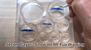 How to make 3D painting Japanese world jewelry