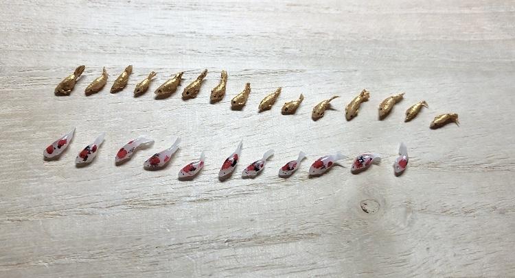 Miniature 3D Koi fish
