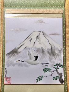 Crane bird Japanese painting art