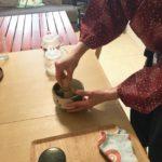 maccha green tea making