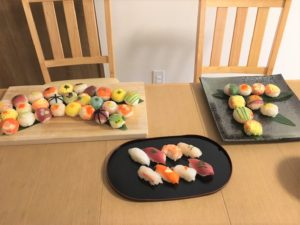 sushi we made with guest
