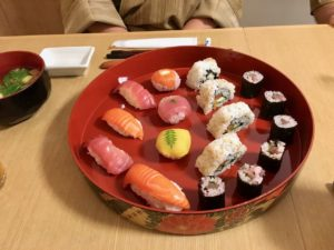 guests made sushi