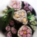 artistic decorational maki rolls photo