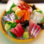 sashimi assortment in round box