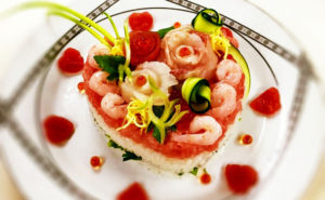 heart decoration sushi photo