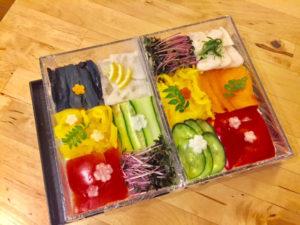 vegetarian mosaic sushi
