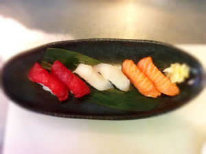 traditional nigiri sushi photo