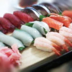 sushi-with sweet  shrimp and squid