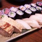 sushi roll and omlett