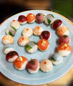 temari sushi big plate