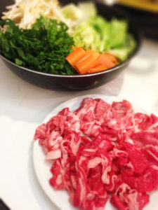 sukiyaki meat and vegeetable