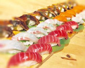 many nigiri sushi