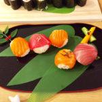 salmon tuna temari sushi