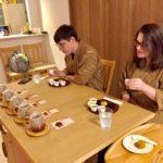 guests tea tasting