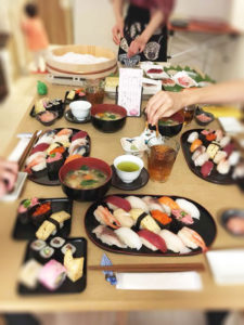 sushi and other foods