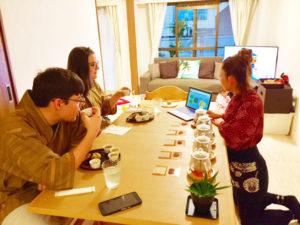 Japanese tea tasting