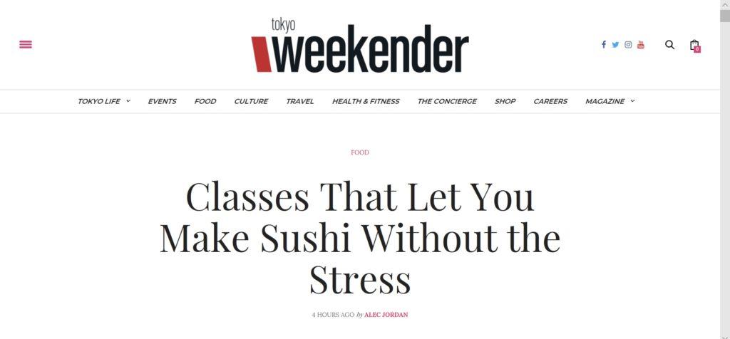 tokyo weekender article