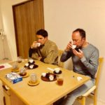 small tea tasting with sweets