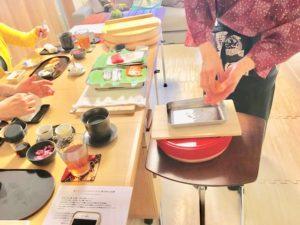 making sushi