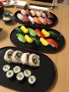 vegan sushi and other sushi