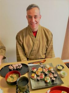 sushi with guest