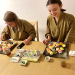 decorating temari sushi