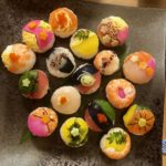 beautiful temari sushi guest made