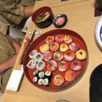 beautiful tuna and salmon sushi guest made!