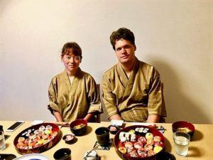 sushi with guests