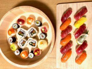 temari and nigiri sushi