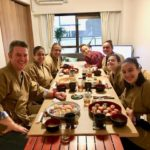 Temari sushi with guests