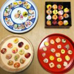 Beautiful Temari sushi guests made