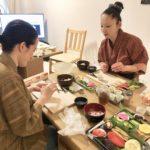 Vegan extravaganza sushi course