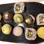 temari and vegan sushi