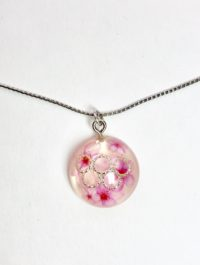 Japanese style dome silver necklace