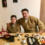 guests with beautiful sushi