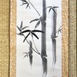 Japanese calligraphy big hanging scroll