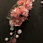Amazing Sakura cherry blossom Kanzashi hair accessory