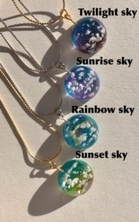 Unique crystal 3D dome sky necklace