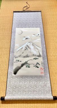 Japanese painting calligraphy art hanging scroll Kakejiku wall decor