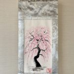 Gorgeous Kimono obi belt Kakejiku Japanese painting SHIDARE Sakura