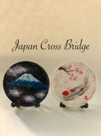 Japanese painting ceramic decorative plate