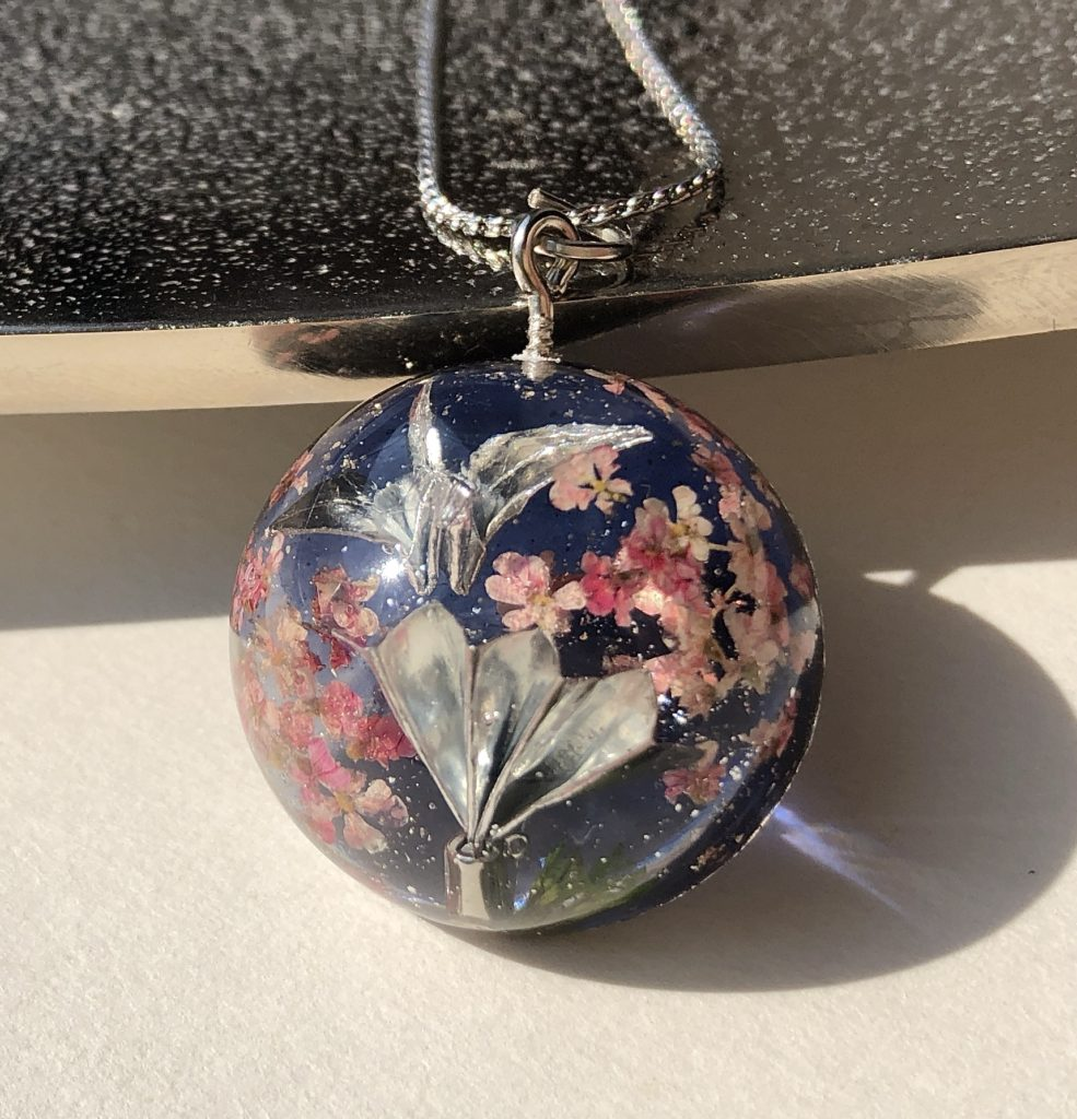 Japanese style good luck crystal necklace